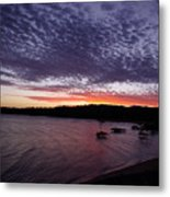 Four Elements Sunset Sequence 7 Coconuts Qld  Metal Print