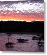 Four Elements Sunset Sequence 8 Coconuts Qld  Metal Print