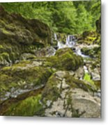 Four Falls Walk Waterfall 3 Metal Print