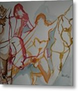 Four Female Figures Metal Print