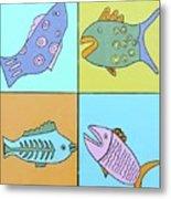 Four Fish Metal Print