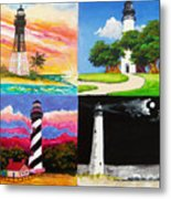 Four Florida Lighthouses Metal Print
