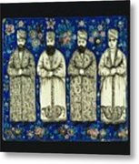 four grandees associated with the court of Nasir al-Din Shah Metal Print