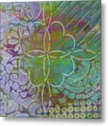 Four Hearts Intertwined Metal Print