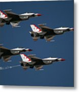 Four In Flight Metal Print
