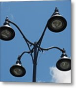 Four Lamps Metal Print
