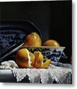 Four Lemons With Canton Metal Print