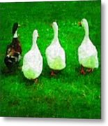 Four Little Ducks Went Out To Play Metal Print