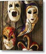 Four Masks Metal Print