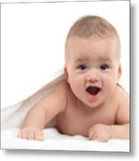 Four Month Old Baby Boy Metal Print