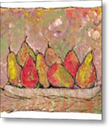 Four Pair Of Pears Metal Print