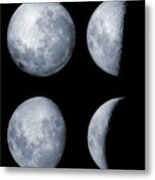 Four Phases Of The Moon Metal Print by Rolf Geissinger