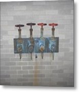 Four Pipes Metal Print