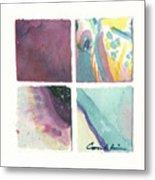 Four Squares Pastelisa Metal Print
