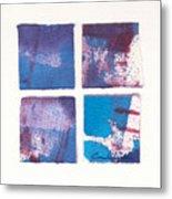 Four Squares Turquoise Flow Metal Print