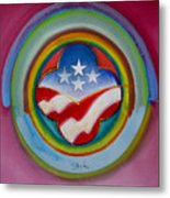 Four Star Button Metal Print