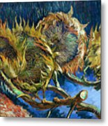 Four Sunflowers Gone To Seed, By Vincent Van Gogh, 1887, Kroller Metal Print