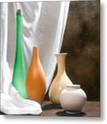 Four Vases I Metal Print by Tom Mc Nemar