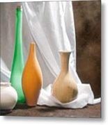 Four Vases II Metal Print by Tom Mc Nemar