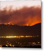 Fourmile Canyon Fire Burning Above North Boulder Metal Print