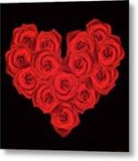 Fourteen Roses Metal Print by Wim Lanclus