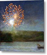 Fourth Of July- Cazenovia Lake Metal Print by Wayne Daniels