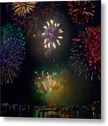 Fourth Of July Fireworks Metal Print