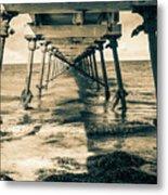 Fowlers Bay Jetty Metal Print