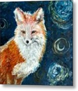 Fox Red  Painting  Metal Print