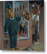 Fox Robber Caught Metal Print by Martin Davey