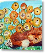 Fox Says Come And Sit With Me Metal Print
