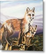 Foxes   Fundamental Foresight Foundation  Metal Print