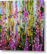 Foxgloves Panel Two Metal Print