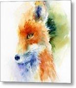 Foxy Impression Metal Print
