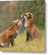 Foxy Love- Kiss Metal Print
