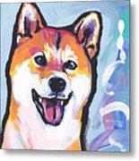 Foxy Shiba Metal Print