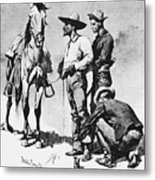 Fr 043 Third Cavalry Trooper Searching A Suspected Revolutionist Fredericremington Sqs Frederick Remington Metal Print