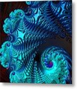 Fractal Art - Blue Wave Metal Print