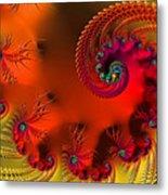 Fractal Art - Breath Of The Dragon Metal Print