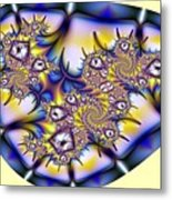 Fractal Containment Metal Print