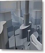 Fractal Factory Metal Print