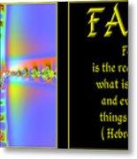 Fractal Faith Hebrews 11 Metal Print