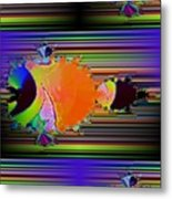 Fractal Fishy Metal Print