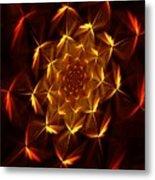 Fractal Floral 062610a Metal Print