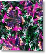 Fractal Floral Riot Metal Print