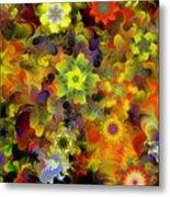 Fractal Floral Study 10-27-09 Metal Print