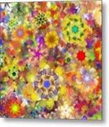 Fractal Floral Study 2 Metal Print