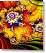 Fractal Furrows Metal Print