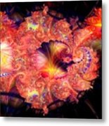 Fractal Layered Metal Print