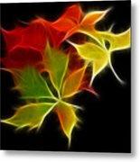 Fractal Leaves Metal Print